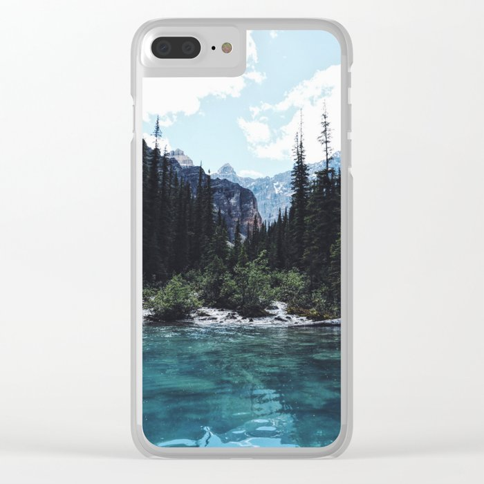 Glacier Creek, Moraine lake Banff Clear iPhone Case