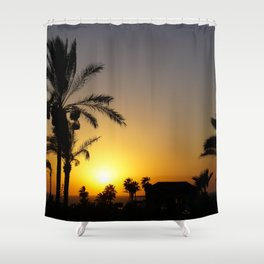 Sunset in Holy Land Shower Curtain