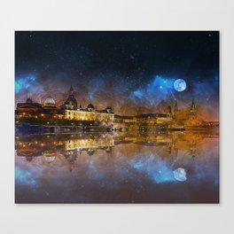 Dresden At Night Canvas Print