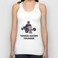 rushmore Tank Tops featuring YANKEE RACERS FOUNDER (Rushmore, 1998) by Tom Ralston