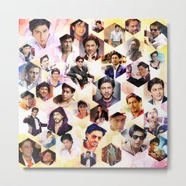 Shahrukh Khan Pillowcase Metal Print