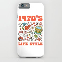 Hippie 1970 life style iPhone Case