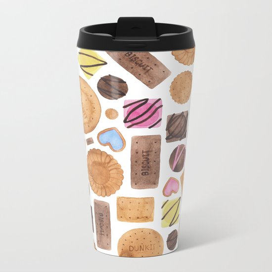 Selection of Sweets, Candy, Cakes and Biscuits Metal Travel Mug
