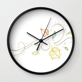 Breezy Leaves Fall/Autumn Design Wall Clock