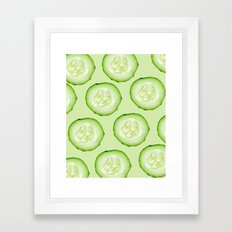 Cucumber Framed Art Print