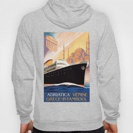 Venice Greece Istanbul shipping line retro vintage ad Hoody