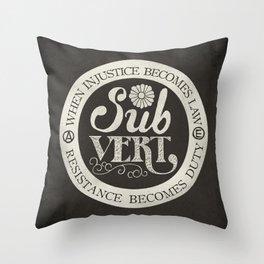 Subvert Throw Pillow