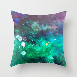 Green Malachite Throw Pillow