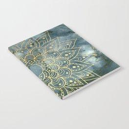 MANDALA ON BLUE MARBLE Notebook
