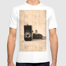 Photography White Mens Fitted Tee MEDIUM