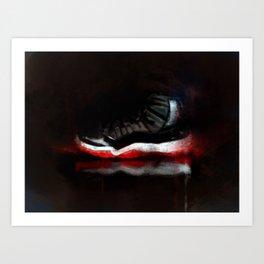 Bred 11s Art Print