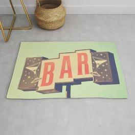Bar sign photograph Rug