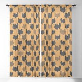 Angry Animals - Turkey Sheer Curtain