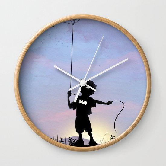 Bat Kid Wall Clock