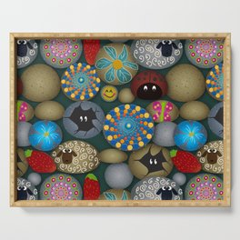 Rock Painting Serving Tray