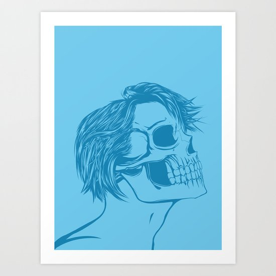 Skull Girl 6 Art Print