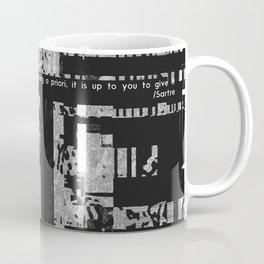 EXIT: existentialist quotes, Sartre Coffee Mug