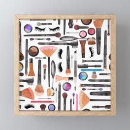 Makeup Brushes Makeup Artist Tools Framed Mini Art Print