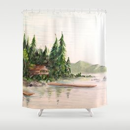 Attean Lake, Maine Shower Curtain