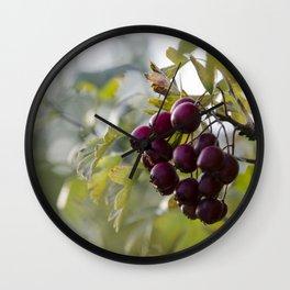 Berry Bokeh Wall Clock