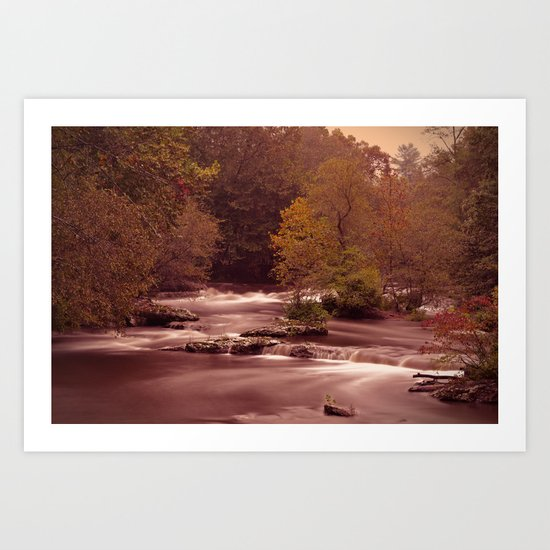 Blackberry Falls Waterscape Art Print