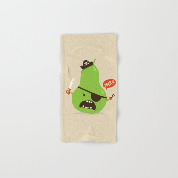 Pear-ate a.k.a The Angry Pirate Hand & Bath Towel
