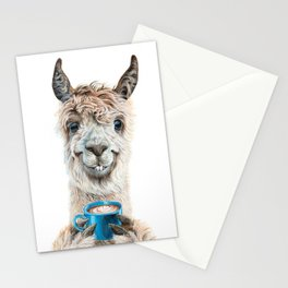 Llama Latte Stationery Cards