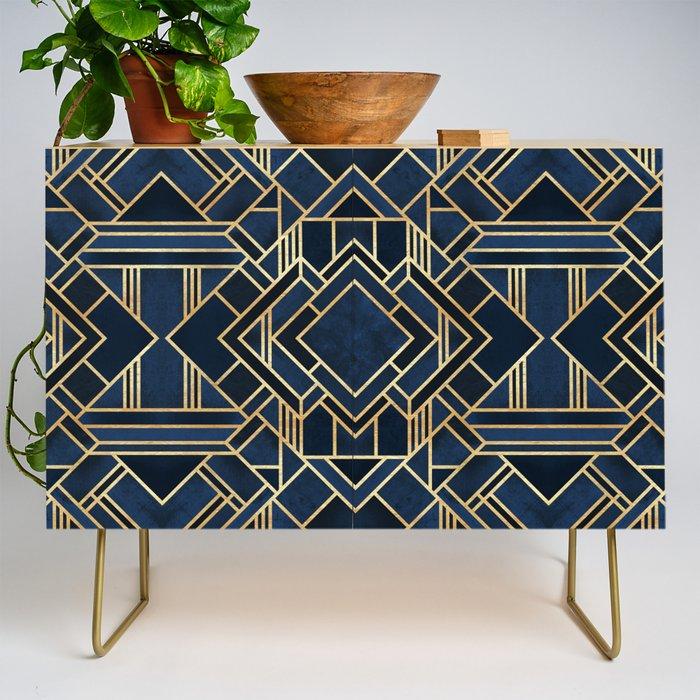 Art Deco Fancy Blue Credenza