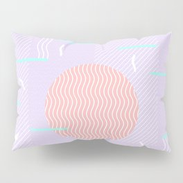 Memphis Summer Lavender Waves Pillow Sham