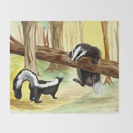 Skunk & Badger Throw Blanket