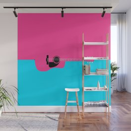 Pink Acoustic Guitar Background Wall Mural