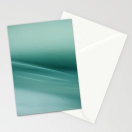 Fantasy Space Lines 1 Turquoise Stationery Cards