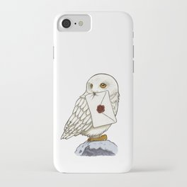 Hedwig Owl with Message iPhone Case