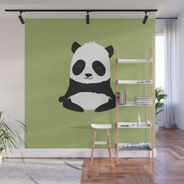 Mindful panda levitating Wall Mural