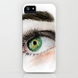 Eye Study in Watercolor 1 iPhone Case