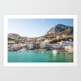 Capri View Art Print