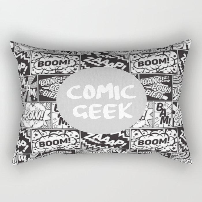 comic book geek funny design Rectangular Pillow