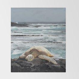 Hawaiian Honu - Sea Turtle Throw Blanket