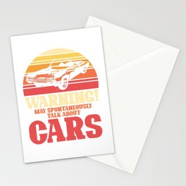 May spontaneously talk about cars Stationery Cards