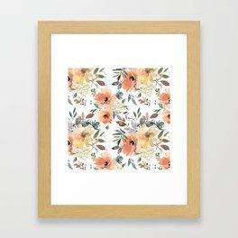 Peachy Keen Pattern Framed Art Print