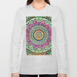 Mandala Technicolor Long Sleeve T-shirt