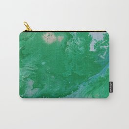 Turquoise & Blue Painted Marble Carry-All Pouch