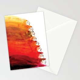 Rainbow of red hair Stationery Cards