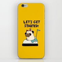pug iPhone & iPod Skins featuring PUG! by Jarvis Glasses