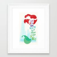 ariel Framed Art Prints featuring ariel by Sara Eshak