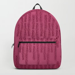 Eye of the Magpie tribal style pattern - raspberry red Backpack