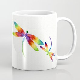 Little Rainbow Dragonflies Coffee Mug