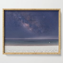 The Milky Way On Bali Beach Serving Tray