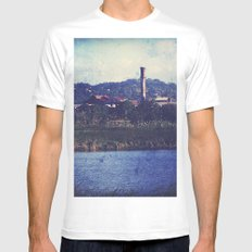 The old spanish Era sugar central MEDIUM White Mens Fitted Tee