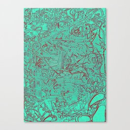 Aumcolored Canvas Print